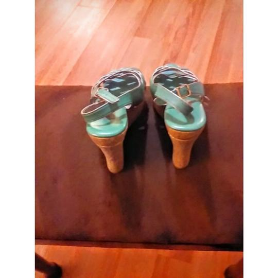 Steve Madden MINT GREEN Wedges Image 4