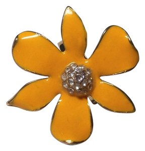 New Large Chunky Yellow Gold Flower Adjustable Ring J2232