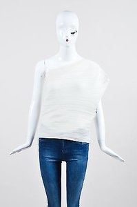 Lanvin Micro Pleated Top White