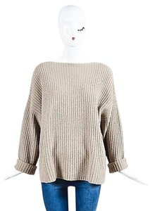 Vince Taupe Yak And Wool Sweater