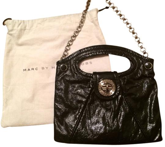Marc by Marc Jacobs Patent Leather Metallic Hardware Satchel in Black