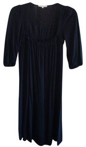 Maje short dress Dark blue Empire Waist Pleats on Tradesy