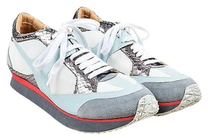 MM6 Maison Martin Margiela Gray Blue Mesh Leather Snake Multi-Color Athletic