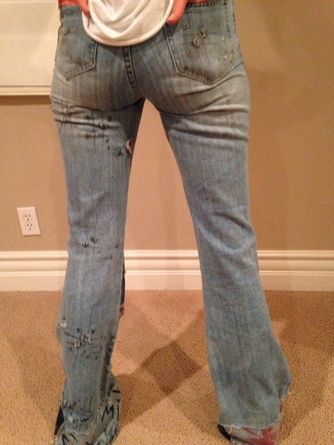 Aya's Boutique Boot Cut Jeans-Coated