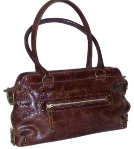 Kooba Distressed Textured Buckles Shoulder Bag