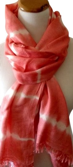 Preload https://item5.tradesy.com/images/coralcream-lightweight-woven-nepalese-scarfwrap-1315334-0-0.jpg?width=440&height=440