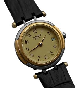 Herms Hermes Winsdor Ladies Watch - Stainless Steel & 18K Gold Plated