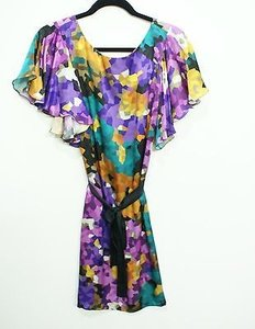 Trina Turk Purple Print Silk Dress
