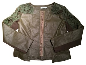 Italiagogo Military green Leather Jacket