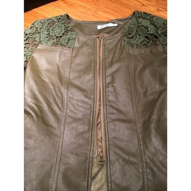 Italiagogo Military green Leather Jacket Image 3