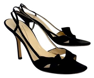 Kate Spade Black Strappy Bow Heels Sandals