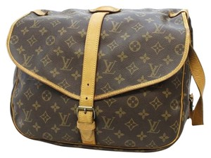 Louis Vuitton Monogram Canvas Saumur 35 Brown Messenger Bag
