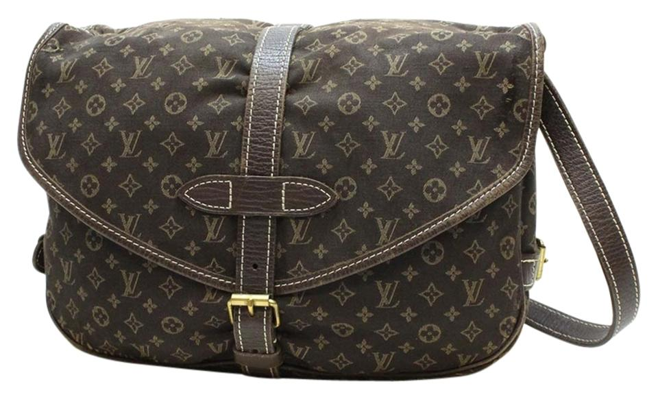 62a0f0284920 Louis Vuitton Saumur 30 Mini Lin Monogram Shoulder Crossbody Brown Cotton  Leather Messenger Bag