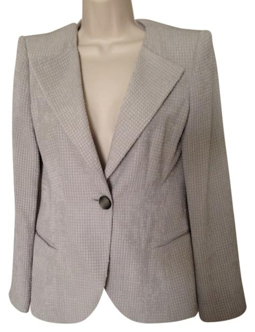 Item - Silver Gray **reserved For Andi U** Textured Silk Blazer Size 4 (S)