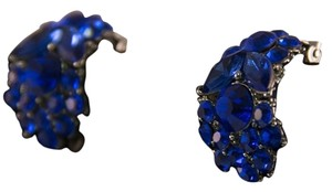 Other Blue Gem Clip On Earrings