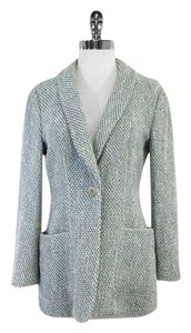 Armani Collezioni Blue White Tweed Jacket