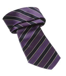 Kiton Kiton Purple Multicolor Striped Tie