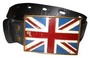 Lucky Brand British flag buckle