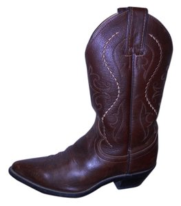 Justin Leather Western brown Boots