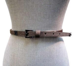Vince Camuto VINCE CAMUTO Women's Grey Studded Hair Calf Belt 185205 Sz Large MSRP $48 - NWT