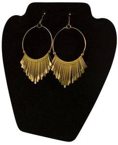 Dangling Hoop Gold Goddess Earrings