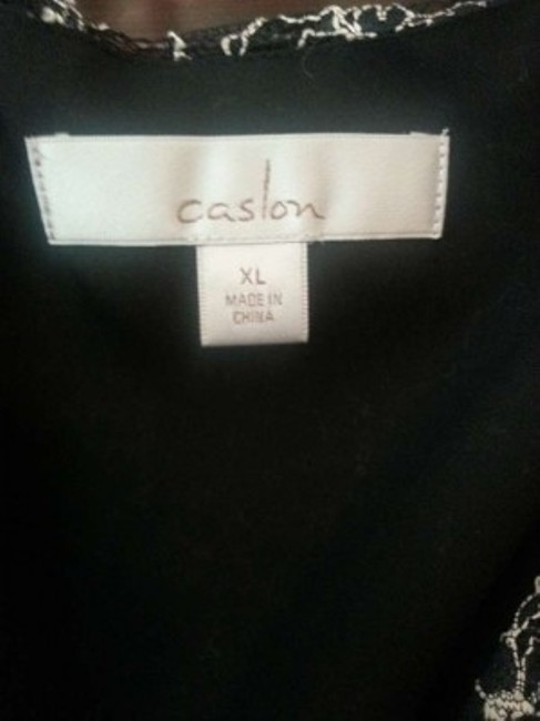 Caslon Dainty Top Black/Cream Lace