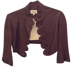 Temperley London Brown Leather Jacket