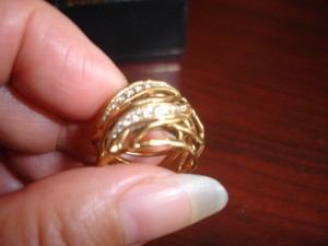 Wedding Ring 18 K Gold With Sparkling Diamonds