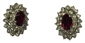 Other Rush For Ruby Red Clip On Earrings