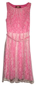 Eva Franco short dress Pink white on Tradesy
