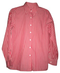 Foxcroft Button Down Shirt Red white
