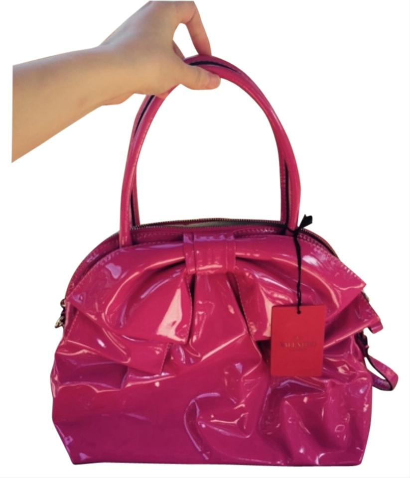 9a32fe710fc9 Valentino Pink Patent Leather Cross Body Bag - Tradesy