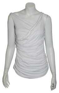 Bailey 44 Pleated Neck Top white