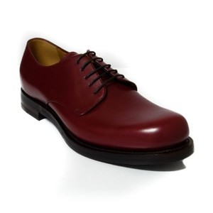 Gucci 358277 Mens Leather Lace-up Shoes Burgundy 6g7us