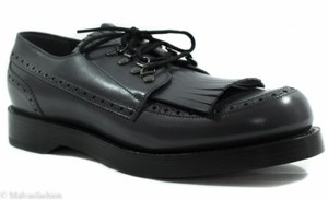 Gucci 358271 Mens Leather Fringed Brogue Lace-up Shoe 6.5g7.5g