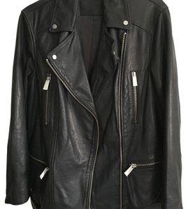 AllSaints Anthracite Grey Leather Jacket