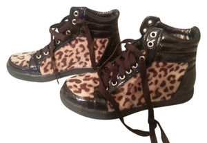 Fair Lady Flat Brown Animal Print Boots