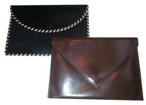 Levenger Levenger Black and Brown Leather Storage Envelopes