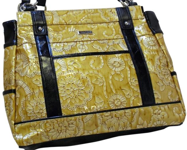Item - Allie New In Pkg Prima Size Purse Shell Yellow Faux Leather Satchel