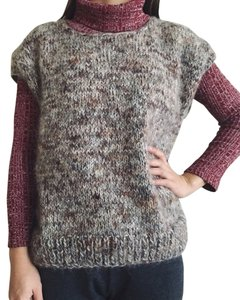 Anthropologie Handknit Wool Mohair Vest Sweater