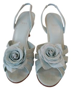 Impo Linen-like Fabric Mint Green Sandals