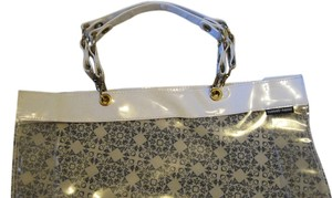 Russell + Hazel Tote in White & Clear