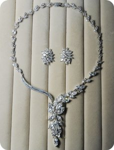 Marquise Flower Necklace Set
