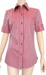 Dana Buchman Button Down Shirt Pink
