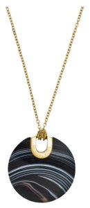 Michael Kors Black Agate Dusc Pendant Necklace