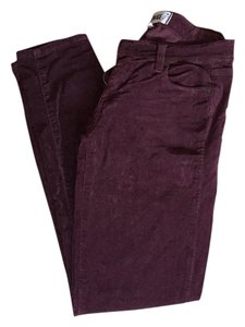 Paige Denim Skinny Pants Merlot