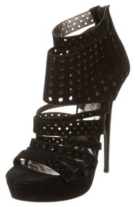 Jimmy Choo Suede Platform Black Platforms