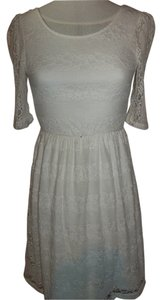 by&by short dress White Lace 1/2 Sleeve Knee Length on Tradesy