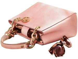 Michael Kors Mk Gold Hardware Satchel in Pink