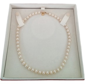 Majorica women's Majorica Ivory Single Strand Pearl Necklace.Length: 17